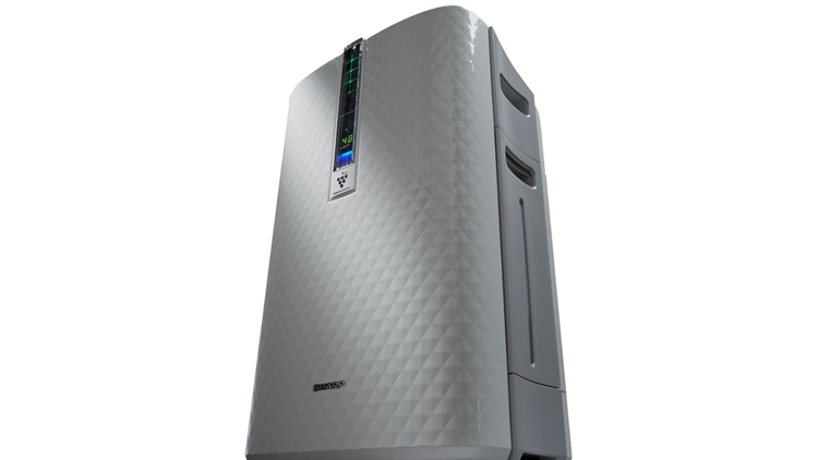 Best Air Purifier and Humidifier Combo - #2 Sharp KC-850U Plasmacluster Air Purifier and Humidifier Combo - Angled Front View