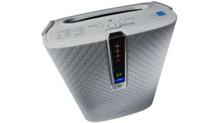 Best Air Purifier and Humidifier Combo - #2 Sharp KC-850U Plasmacluster Air Purifier and Humidifier Combo - Angled Top View