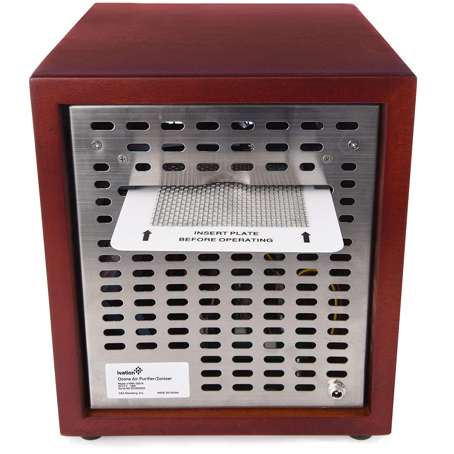 Best Filterless Air Purifier - #3 Ivation Ozone Generator Ozone Plate Slot